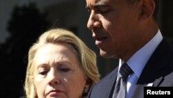 Президент Обама и госсекретарь Хиллари Клинтон