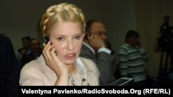 Ex-Prime Minister and presidential hopeful Yuliya Tymoshenko during a court hearing in Kyiv in 2011.