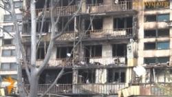 Последствия пожара в центре Алматы