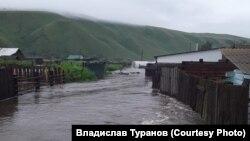 Наводнение в поселке Чернышевск, Забайкалье, 23 июля 2021 года