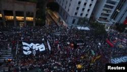 Протестът в Сао Пауло