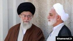 ایتالله علی خامنهای رهبر مذهبی ایران(چپ) و غلام حسین محسن اژهای