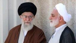 محسنی اژهای در کنار رهبر جمهوری اسلامی