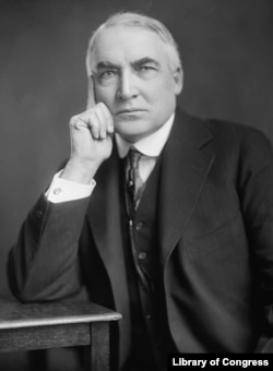 American President Warren G. Harding, who met with Fatima and Weinberg. The Republican served from 1921 until his premature death in 1923 at age 57.