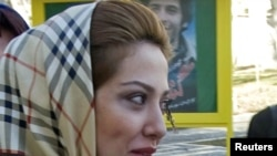Actress Leyla Otadi at a workshop at Tehran's Cinema Museum in March 2009