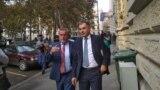 Milan Bandić i njegov suoptuženik Ivica Lovrić nakon oslobađajuće presude na sudu u Zagrebu
