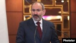 Armenia -- Prime Minister Nikol Pashinian speaks at an anti-corruption forum in Yerevan, December 9, 2019.