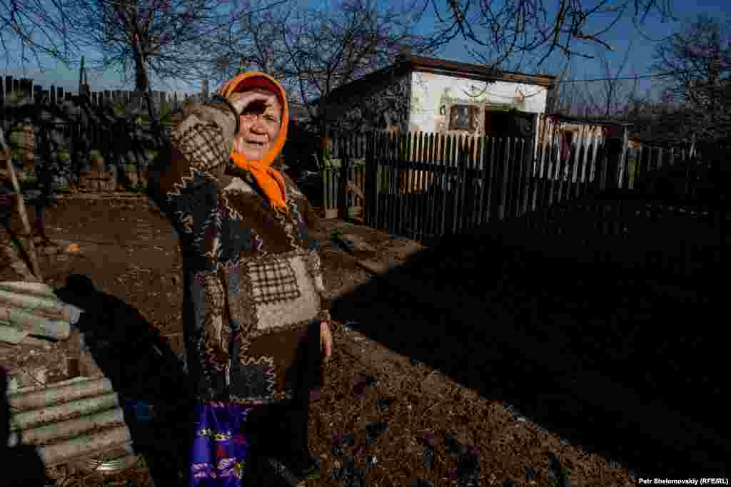 Maria Andreevna, 75, lives in the village of Zaysteve, which is split between Ukrainian government troops and Russia-backed separatists. The closure of a checkpoint has prevented her from traveling to Artemivsk to pick up her pension.
