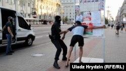 Затримання в Мінську, 8 серпня 2020 року