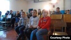 Дзіцячы ранішнік у школе ў Гранітным