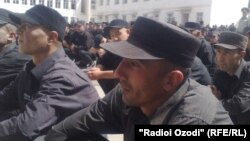 Tajikistan,Dushanbe city,prisoners in Central jail of Акс аз бойгонӣ
