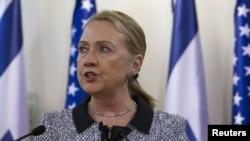 АҚШ мемлекеттік хатшысы Хиллари Клинтон. Израиль, 20 қараша 2012 жыл.