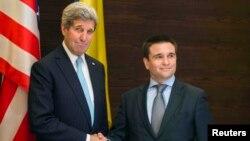 Ուկրաինա -- ԱՄՆ-ի պետքարտուղարը Ուկրաինայի արտգործնախարարի հետ հանդիպմանը, 5-ը փետրվարի, 2015թ.