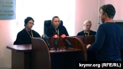 Коллегия судей на заседании по делу крымского экс-депутата Василия Ганыша