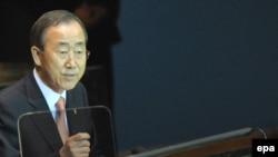 بان کی مون، دبیر کل سازمان ملل