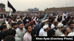 Tens of thousands of protesters took to the streets of Peshawar to demanding an end to what they say are human rights violations by authorities in Pakistan's tribal regions.