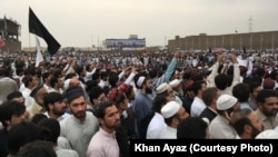 Pashtun Tahafuz Movement (PTM) held a major protest gathering in Peshawar Pakistan on April 8.
