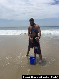 З сынам на пляжы