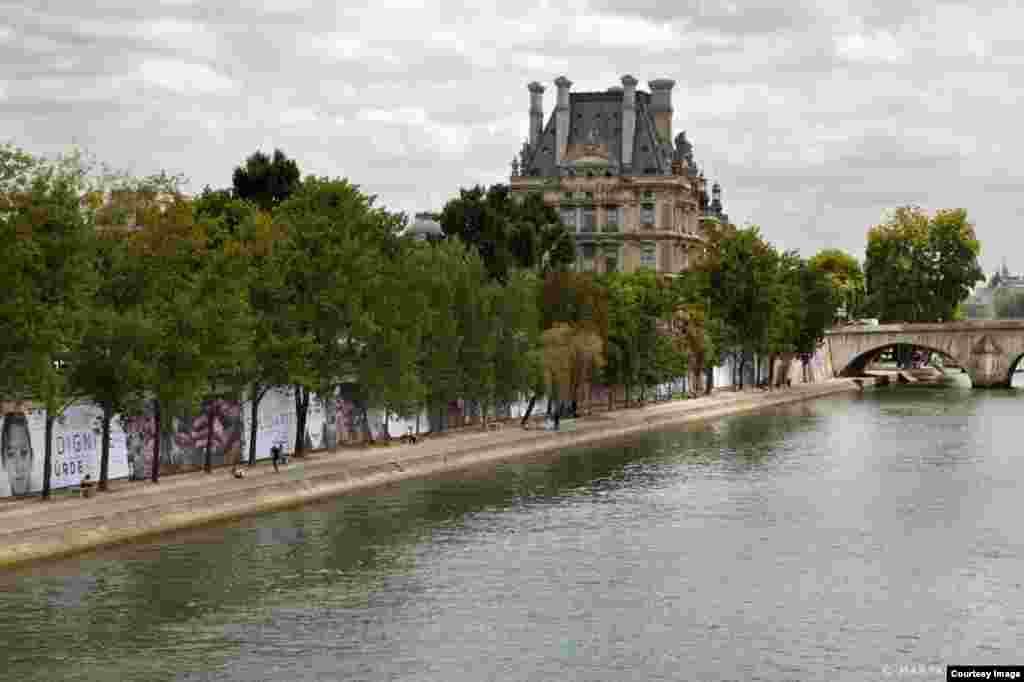 عکس از مریم اشرافی؛نمایشگاه «رویای انسانیت» رضا دقتی در پاریس
