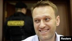 Российский оппозиционный политик Алексей Навальный в суде. Москва, 16 июня 2017 года.