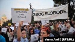 Sa jednog od protesta incijative 'Ne da(vi)mo Beograd' zbog 'Beograda na vodi'