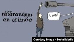 Карикатура французького журналу Charlie Hebdo про кримський «референдум» у березні 2014 року