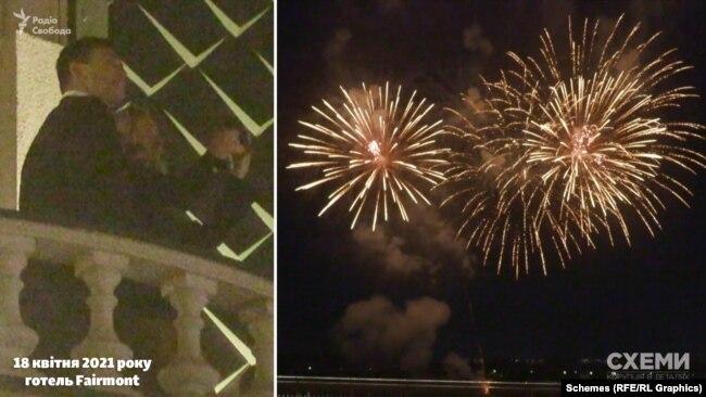 О 22-й навпроти готелю з Труханова острова почав лунати святковий салют