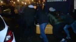 Жители Тёплого Стана возводят баррикады
