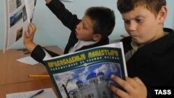 """В прошлом учебном году """"Основы православной культуры"""" здесь изучали с первого класса, хотя программа разработана для 4-5-х."""