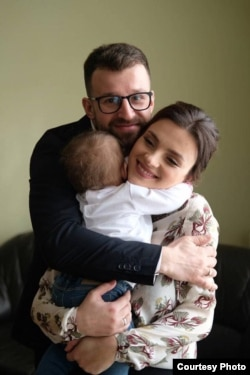 Василь Галамай с семьей