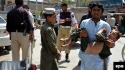 Pamje pas një eksplodimi të mëparshëm në Kueta të Pakistanit