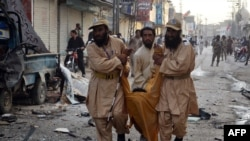 File photo of a bomb attack in Quetta.