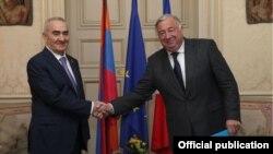 Հայաստանի Ազգային ժողովի նախագահի և Ֆրանսիայի Սենատի նախագահի հանդիպումը, Փարիզ, 25-ը նոյեմբերի, 2014թ․