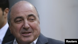 Boris Berezovsky arrives at the High Court offices in London in August 2012.