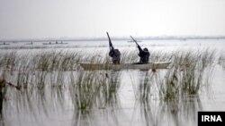 Охота на озере Хазар (архивное фото)