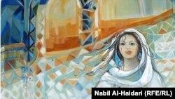 لوحة للفنانة سلمى العلاق