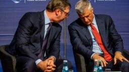 Aleksandar Vučić i Hašim Tači u Albahu, avgust 2018.