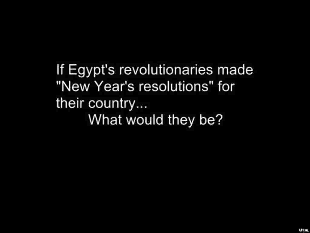 New Year's Resolutions For Egypt #21