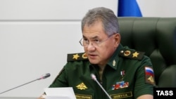 "Russian Defense Minister Sergei Shoigu said recent large-scale military exercises are not intended as a ""threat"" to the West."