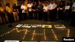 В столице Малайзии Куала-Лумпуре скорбят о погибших в крушении малазийского лайнера под Донецком