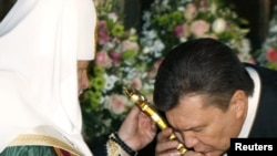 """Предыдущий визит патриарха на Украину был назван наблюдателями """"политическим""""."""
