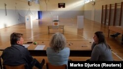 Гласачко место во Скопје за референдум.