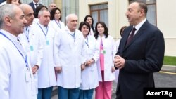 İlham Əliyev Mingəçevirin mərkəzi hospitalında