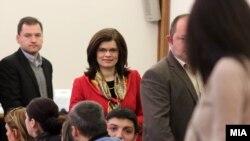 Архивска фотографија - Силвана Бонева во Собранието на Северна Македонија