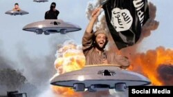 Yaponlar İŞİD cəlladını məsxərəyə qoyan komik fotoları hazırlayıb və bu, İnternetdə fləşmoba çevrilib.