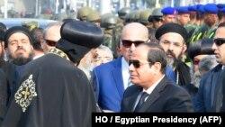 دیدار رئیسجمهور مصر با رهبر قبطیان این کشور در آذر ماه ۹۵ پس انفجار در یک کلیسای قبطی