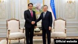 Акс аз сомонаи президенти Узбекистон