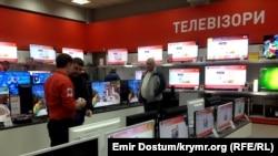 """В симферопольском супермаркете """"Фокстрот"""". 16 декабря 2014 года"""