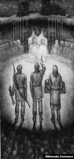 На куцьцю. Ілюстрацыя Яўгена Куліка