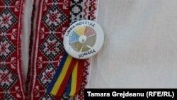 Напис на значку: «Наша мова – румунська»